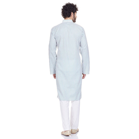 Indian Costume Men Kurta Pajama Set Comfort Fit Anniversary Gifts