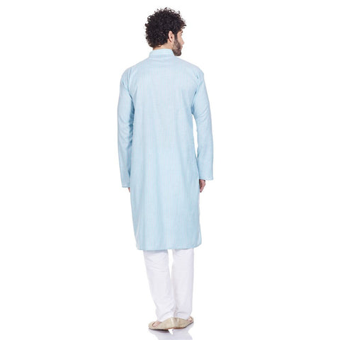Indian Outfit Men Kurta Pajama Set Comfortable Gifts For Husband