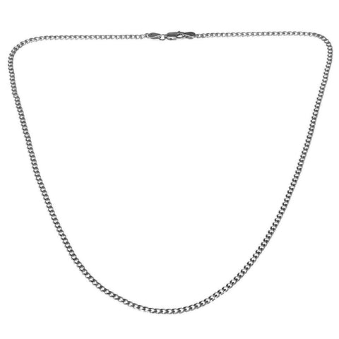 925 Stamped Silver  Curb Chain 20 Inches for Men's Jewellery