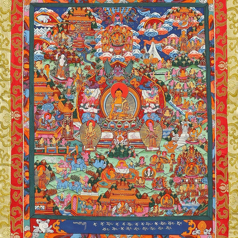 Buddhism Scrolls Wall Art Thangka Oriental Décor Buddhism Gifts Tibetan Paintings