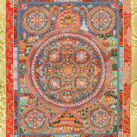 Buddhist Wall Hanging Mandala Tapestry Thangka Art Oriental Décor Paintings