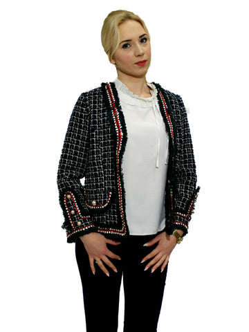 Navy and cream Aztec jacket
