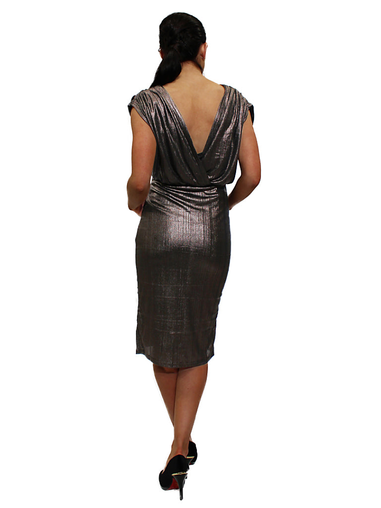Metallic look dress