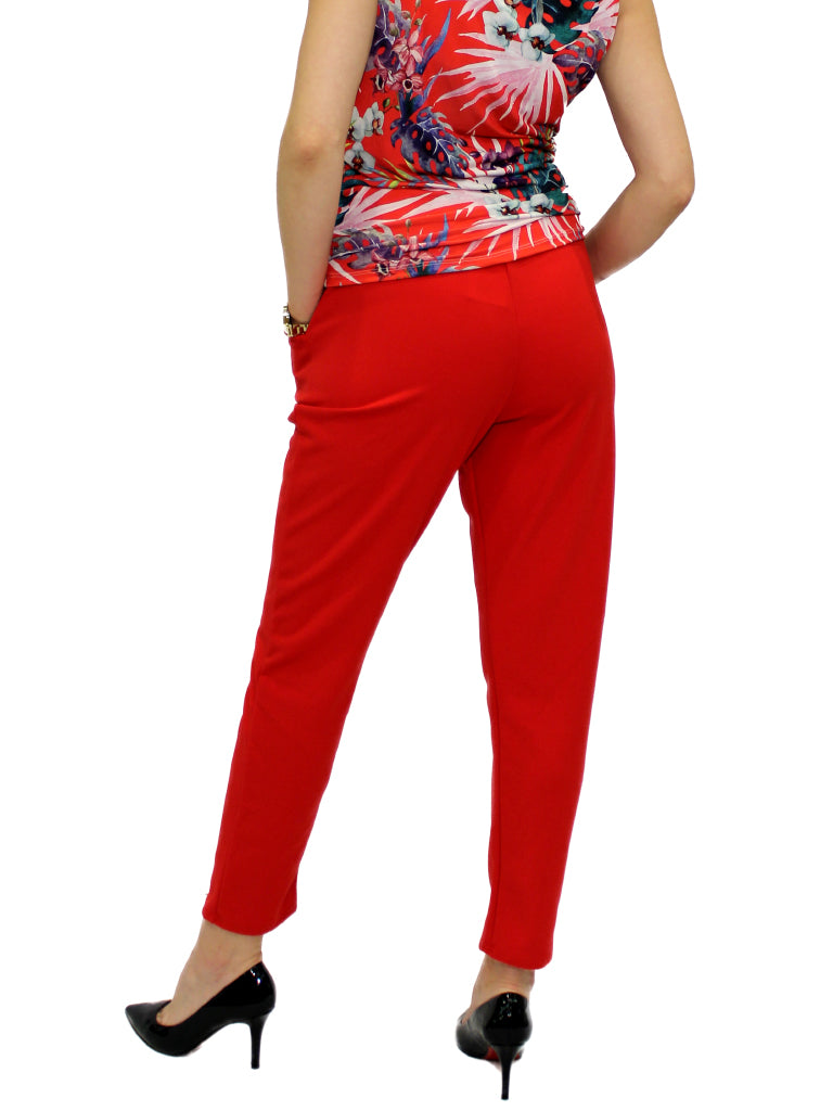 Red tie trousers