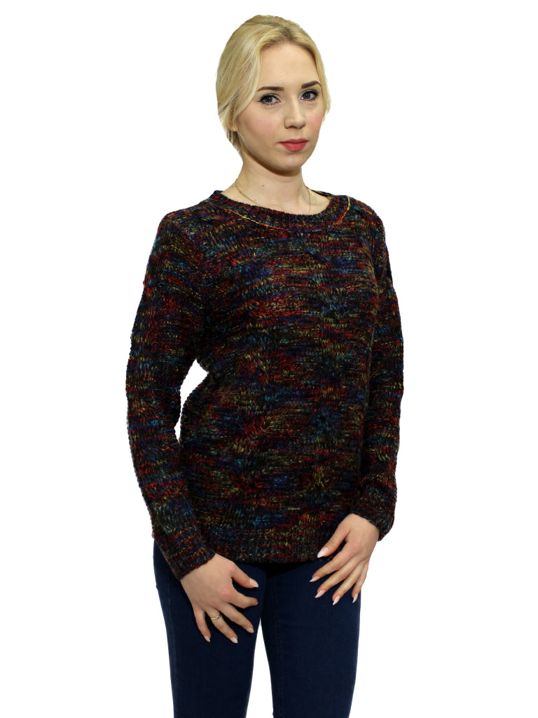 Stella navy multi knit jumper