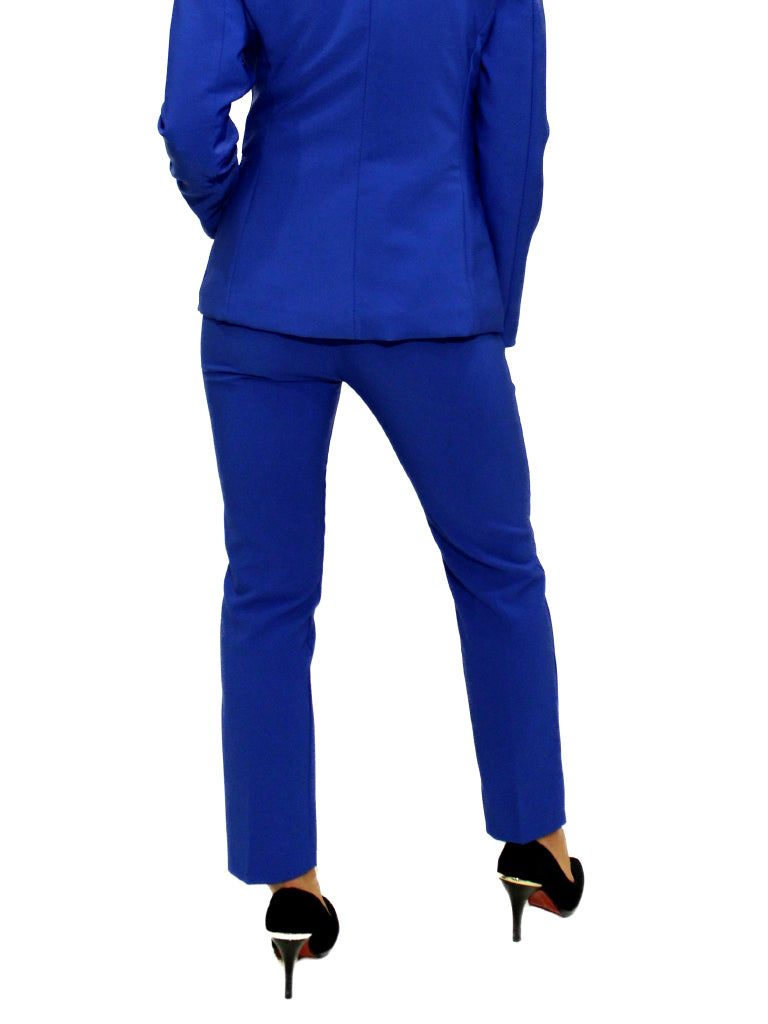 Royal blue fitted trousers