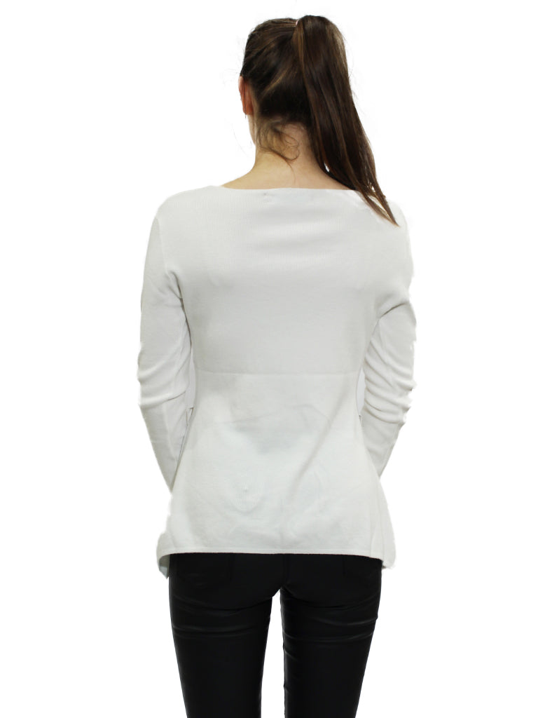 cream knit jumper with button detail