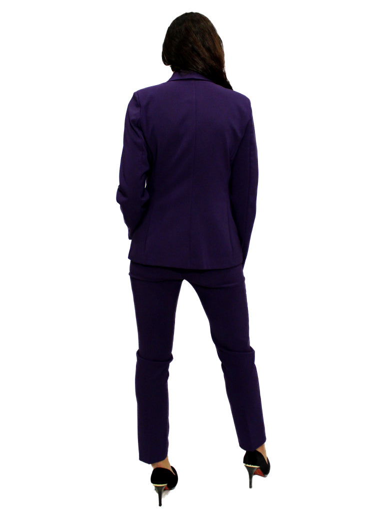 Purple fitted trousers