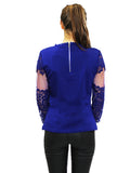 royal blue lace top