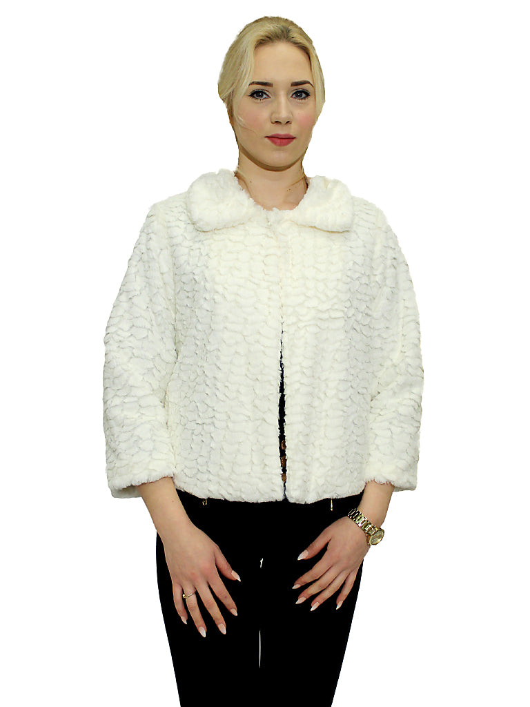 Winter White Faux Fur Jacket