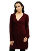 wine long knit jumper