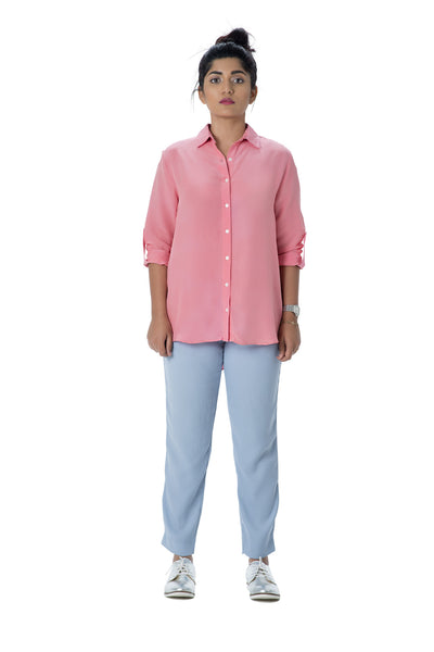 Roll Up Shirt – Dusty Pink