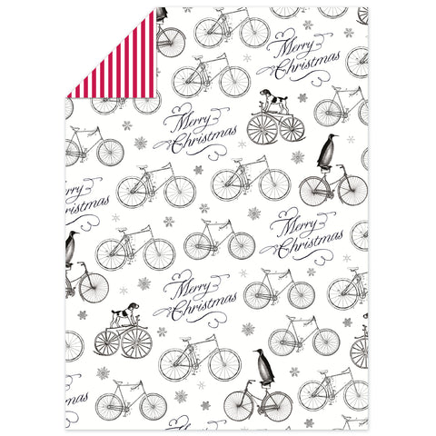 Alice Scott Festive Bicycles Flat Wrap