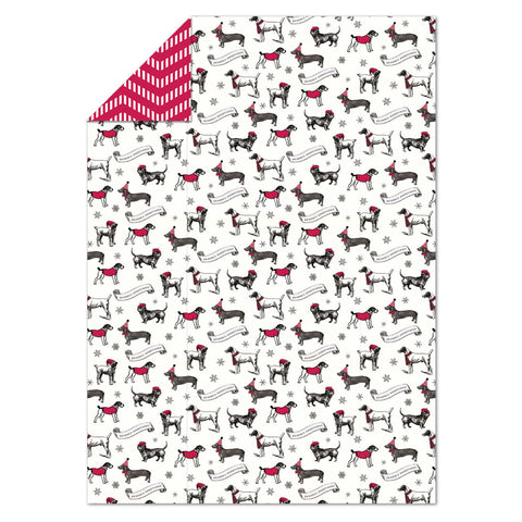 Alice Scott Dashing Dogs Flat Wrap