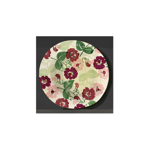 Floral Plate Tag
