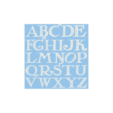 Blue Alphabet Tag