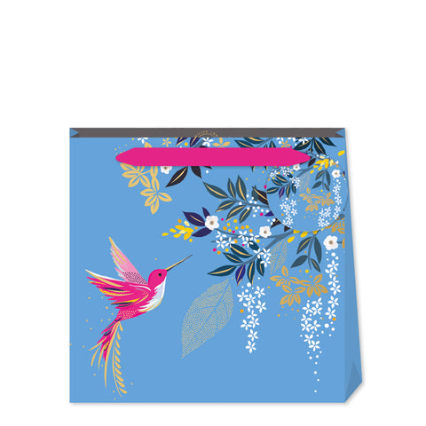 Sara Miller Blue Hummingbird Small Bag