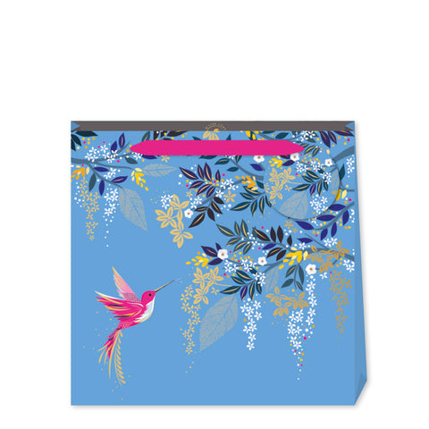 Sara Miller Blue Hummingbird Medium Bag