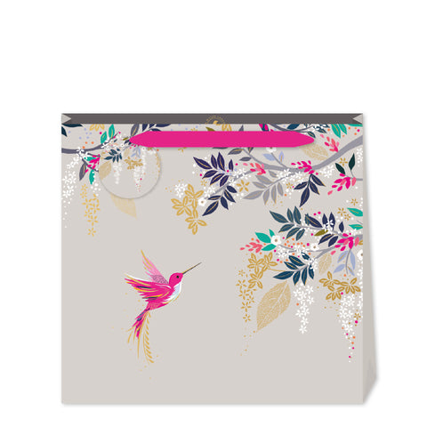 Sara Miller Grey Hummingbird Large Bag