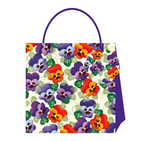 Emma Bridgewater Purple Pansy Small Bag