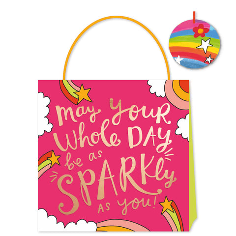 Happy News May Your Day Sparkle Medium Bag