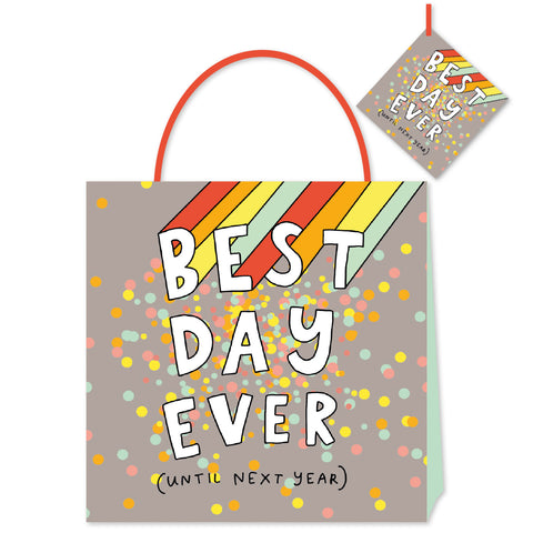 Happy News Best Day Ever Medium Bag