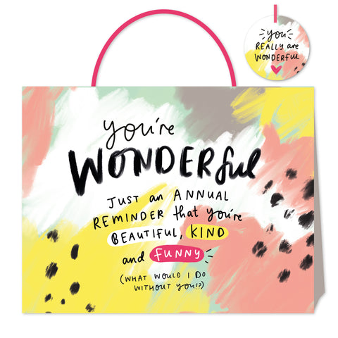 Happy News You're Wonderful Shopper Bag