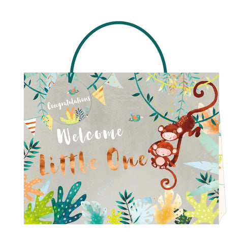Jack & Lily Baby Monkey Shopper Bag