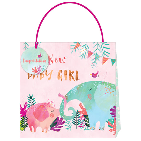 Jack & Lily Baby Girl Elephant Large Bag