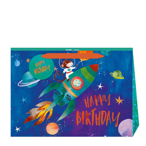 Jack & Lily Monkey Birthday Shopper Bag