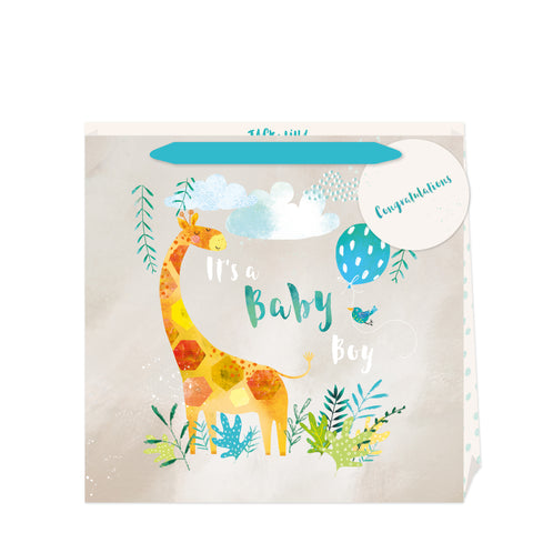 Jack & Lily Baby Boy Giraffe Large Bag