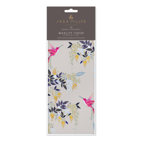 Sara Miller Grey Hummingbird Tissue