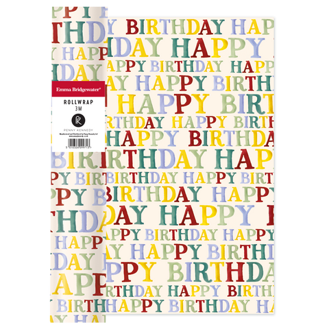Emma Bridgewater Happy Birthday Roll Wrap