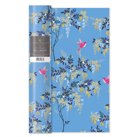 Sara Miller Blue Hummingbird Roll Wrap