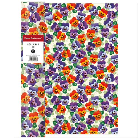 Emma Bridgewater Purple Pansy Roll Wrap