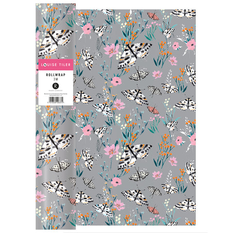 Louise Tiler Grey Floral Roll Wrap