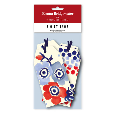 Emma Bridgewater Anemone / Blue Rainbow Tag Pack