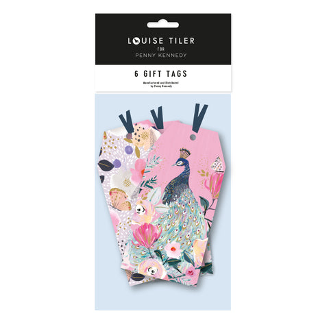Louise Tiler Pink Floral/Peacock Tag Pack