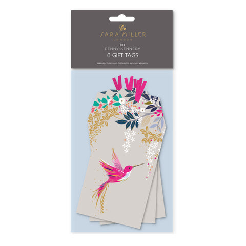 Sara Miller Grey Hummingbird Tag Pack