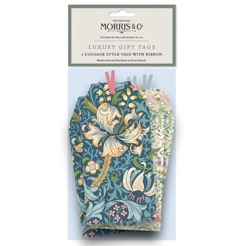 Morris & Co Strawberry Thief & Golden Lily Tag Pack