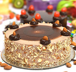 Choco Almond Fresh Cream Cake