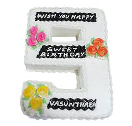 Birthday Cakes- Shape Design- Wb13003