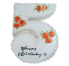 Birthday Cakes- Shape Design- Wb13007