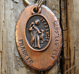 SAINT FRANCIS | Hand Stamped Pet ID Tag | The Landlocked Dog