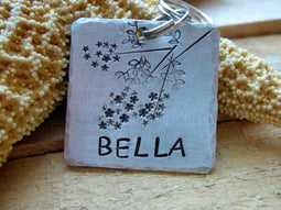 The Bella Tag | Hand Stamped Pet ID Tag | The Landlocked Dog