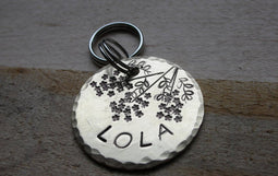 THE BELLA | Hand Stamped Pet ID Tag | The Landlocked Dog