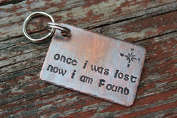 NOW I AM FOUND | Hand Stamped Pet ID Tag | The Landlocked Dog