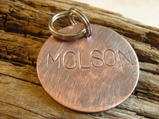 THE MOLSON | Hand Stamped Pet ID Tag | The Landlocked Dog