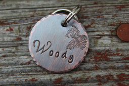 WILDERNESS | Hand Stamped Pet ID Tag | The Landlocked Dog