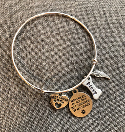 Dog Memorial/Remembrance Bangle Bracelet